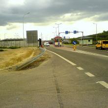 Prace remontowe na przejściu granicznym w Hrebennem
